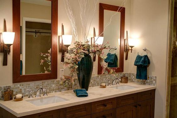 bad spiegel vase 564