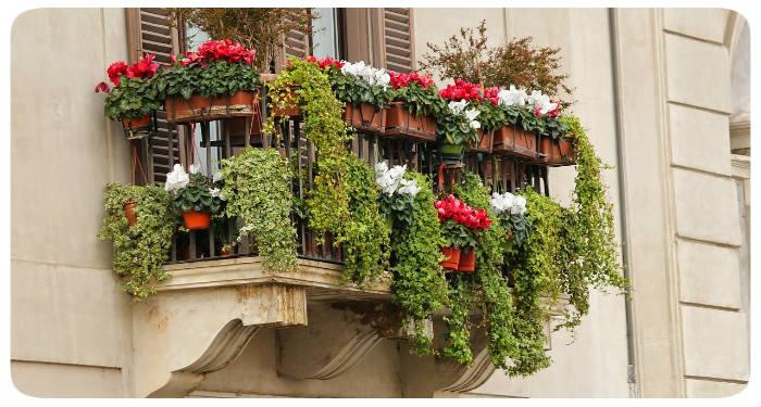 blumen gem tlichen balkon idee frisch fr hling. Black Bedroom Furniture Sets. Home Design Ideas