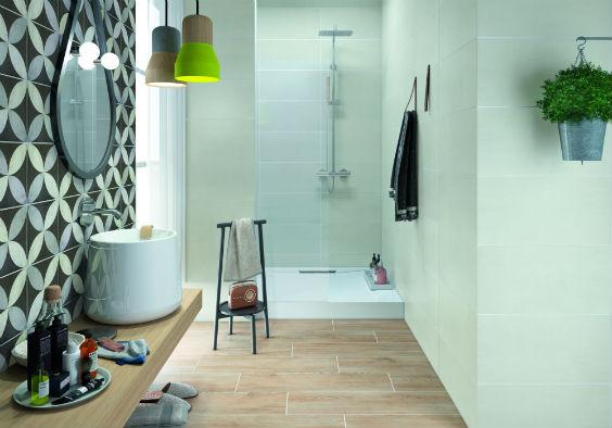 Badezimmer mit zementfliesen grundlagen auswahl verlegen - Zementfliesen bad ...
