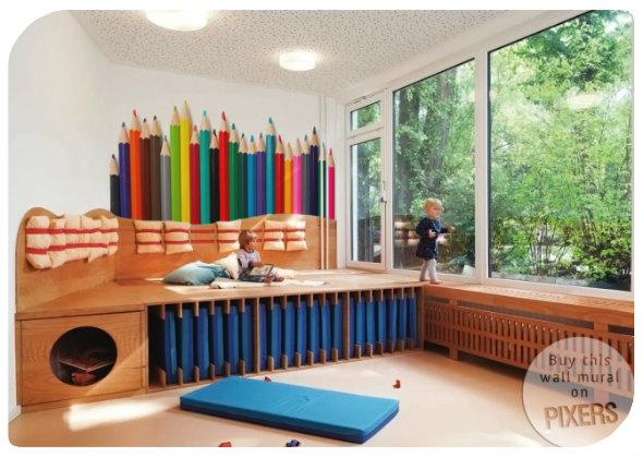 eine tapete f r das kinderzimmer. Black Bedroom Furniture Sets. Home Design Ideas