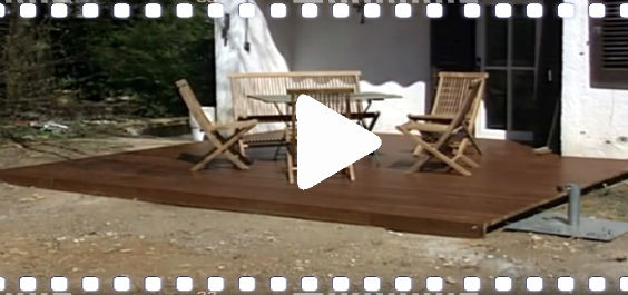 video anleitung eine holzterrasse selber bauen. Black Bedroom Furniture Sets. Home Design Ideas