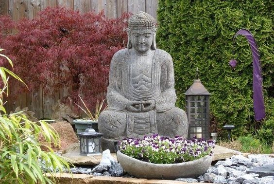 buddha garten stein zen 564