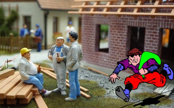 diebstahl baustelle dieb dach