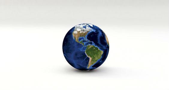 erde globus weiss j 564