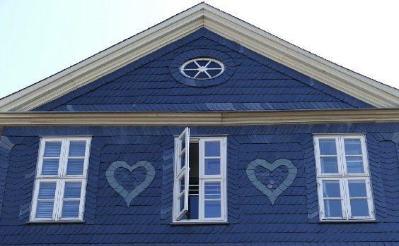 Fassade blau