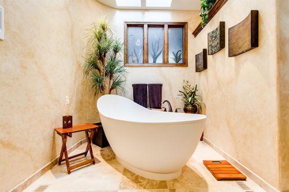 freistehende badewanne gelb 564