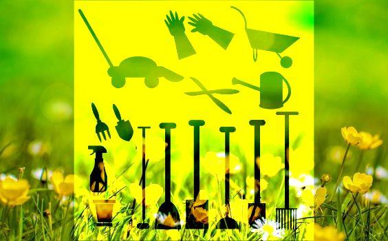 gartengeraete die man braucht gelb