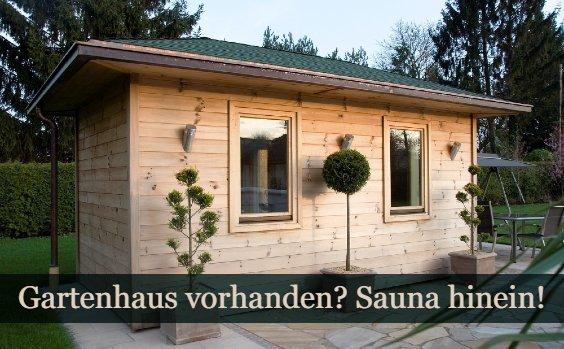 Sauna Gartenhaus einbauen