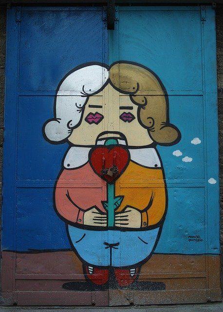 graffiti tuer figur 458