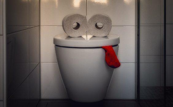 Hu00e4nge WC mit Augen