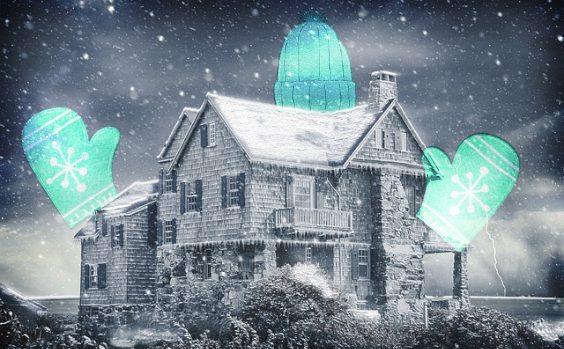 haus winter blau schnee