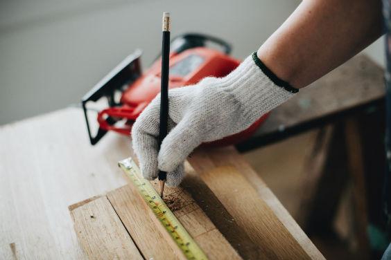 heimwerken messen handschuh 564