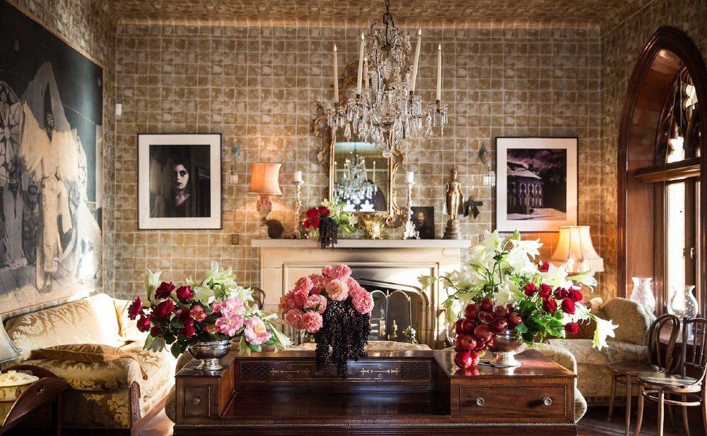 kunst wohnzimmer antik blumen 1000