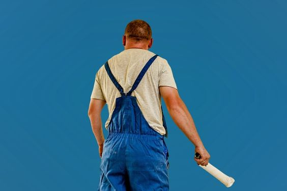 maler blaue wand tg 564