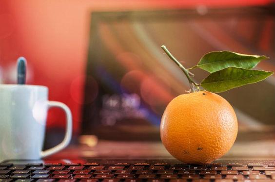 orange rechner buero 2w 564