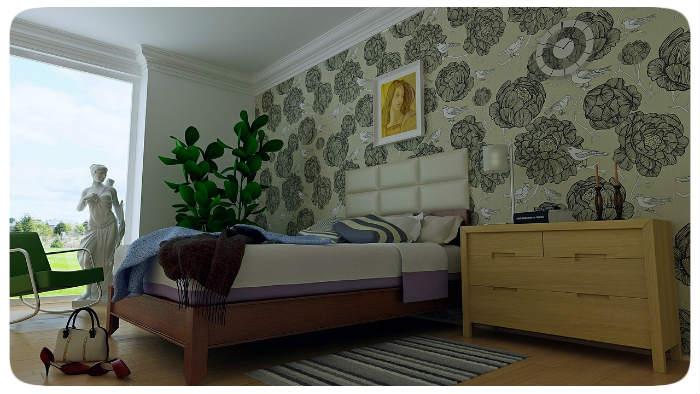 schlafzimmer fototapete 700