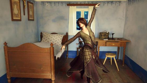 Schlafzimmer Frau Tanz 564