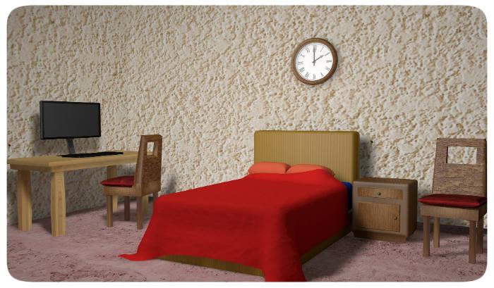 Schlafzimmer Rot Weiss