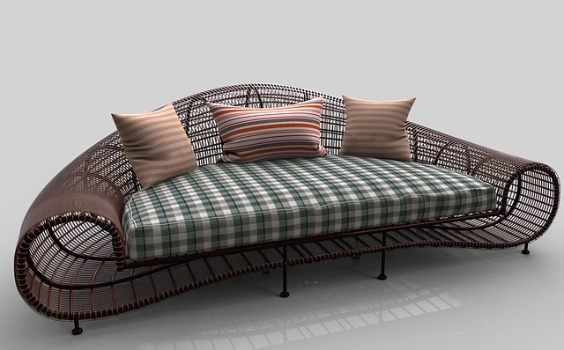 sofa exotisch draht 564