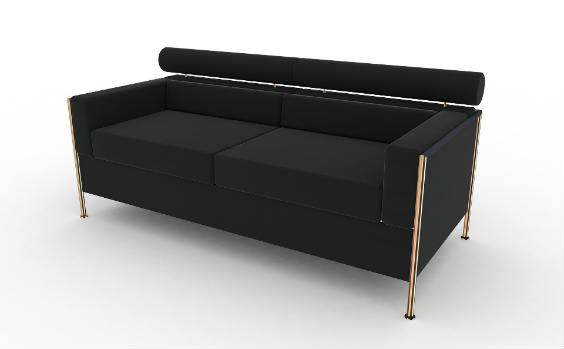 sofa schwarz 564
