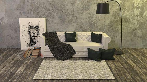 sofa weiss graue wand z 564