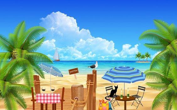 strand karibik terrasse