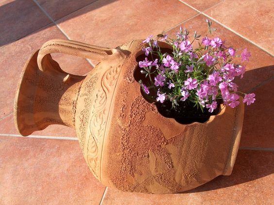 topf antik blume vase terrasse