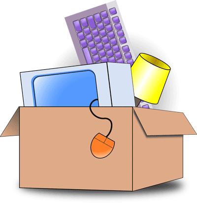 Karton gefüllt