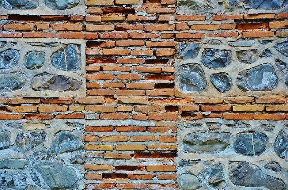 wand steine kreativ blau u 564
