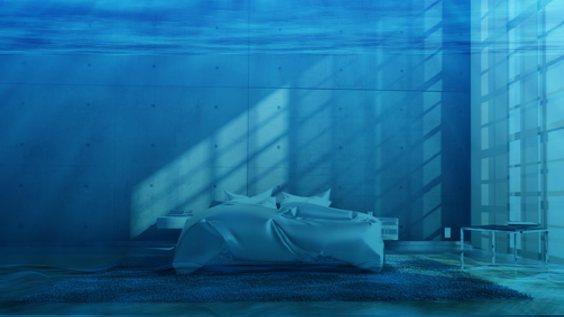 wasserbett unterwasser loft
