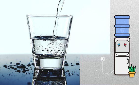 wasserspender buero glas p