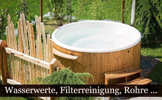 Whirlpoolpflege, Whirlpool im Garten