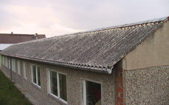 wiki asbest dach wellblech grau
