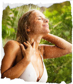 Eine Dusche entspannt